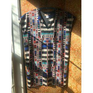MARA HOFFMAN Tunic Shift Dress Multicolored Geomet